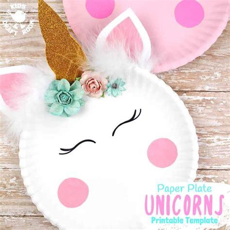 Simple Paper Plate Unicorn Craft Kids Craft Room Unicorn Craft Template