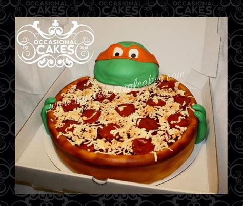 pizza cake images tmnt pizza cake cake by occasional cakes cakesdecor