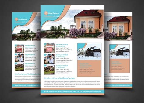 Pro Real Estate Flyer Template Flyer Templates On Creative Market Real Estate Marketing Caign Template