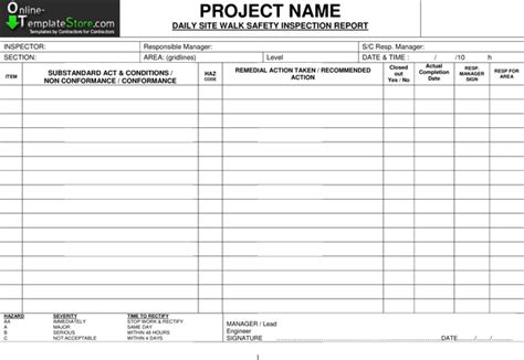 building defect report template free templates construction template store