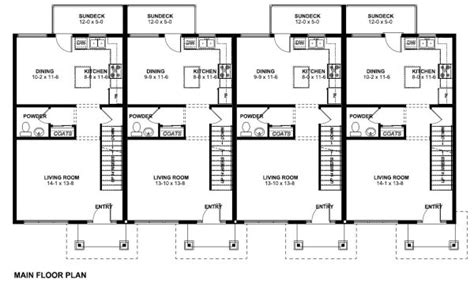 Split Entry Floor Plans Economical Multi Family Dwelling House Plan Hunters