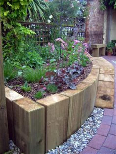 Railway Sleepers Suffolk by Softwood Timber Raised Sleeper Beds Landscaping