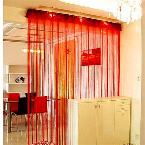 red string curtain