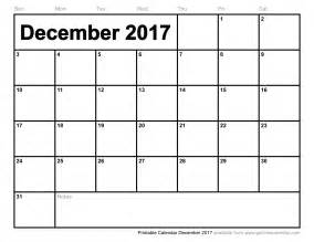 Calendar December 2017 Printable Free Printable Calendar December 2017