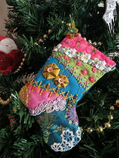 pattern for crazy quilt christmas stocking i crazy quilting beading ribbon embroidery
