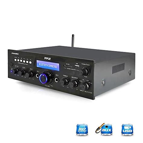Compact Home Audio Lifier Pyle Bluetooth Stereo Lifier Receiver Compact Home