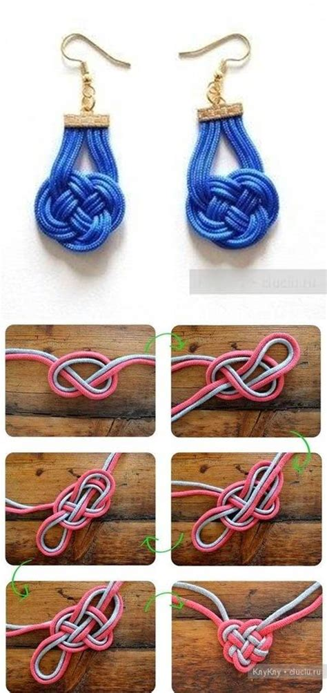 Easy Decorative Knots - how to knit beautiful decorative knotting earrings