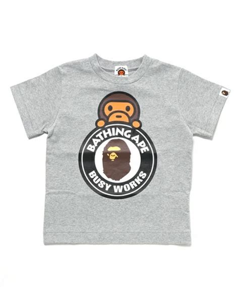 St Baby Milo Navy Kid a bathing ape baby milo on busy works 4 colors bape t shirt from japan ebay
