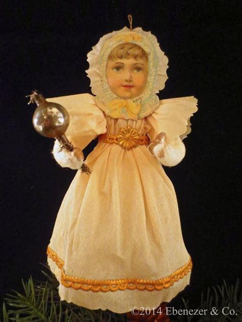 reproduction german style spun cotton christmas ornament