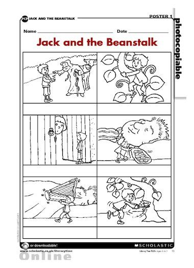 kindergarten activities jack and the beanstalk jack and the beanstalk sequencing