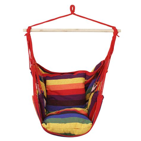 sky swing chair deluxe rainbow hammock hanging patio tree sky swing chair