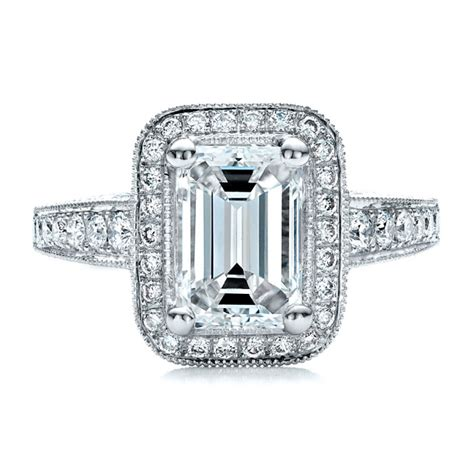 custom emerald cut engagement ring eternity jewelry