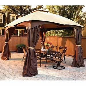 10x12 Gazebo Privacy Curtain Replacement Canopy For Allen Roth Dome 10x12 Garden Winds