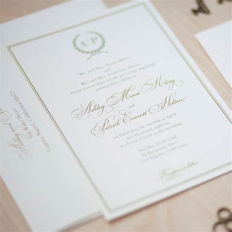 monogram wedding invitations monogram wedding invitation and gold invitation olive
