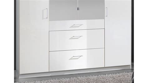Kleiderschrank 180 Cm Breit Weiss by Kleiderschrank Clack Hochglanz Wei 223 Alpinwei 223 Spiegel 180 Cm