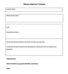 witness statement template 9 witness statement templates free word pdf documents