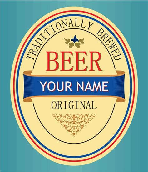 Beer Label Vector Material My Free Photoshop World Bottle Label Template Photoshop