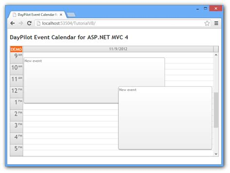 tutorials daypilot for asp net mvc calendar scheduler tutorials daypilot for asp net mvc calendar scheduler