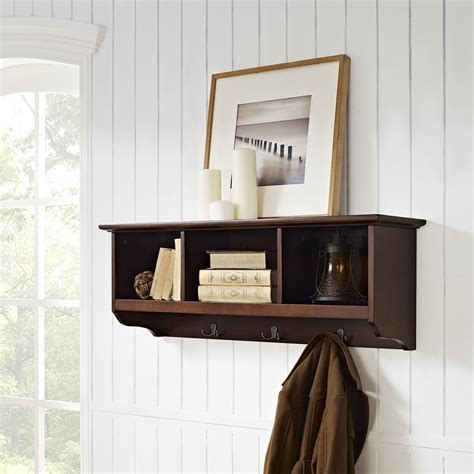 entryway storage shelf brennan entryway storage shelf mahogany dcg stores