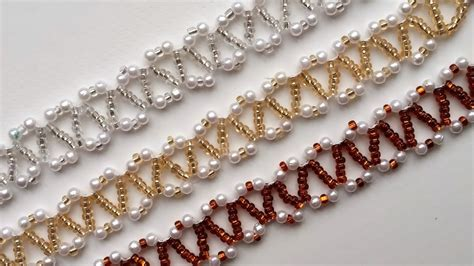 Beginner DIY jewelry tutorial. 3 beautiful seed beads and pearl beads bracelets   YouTube