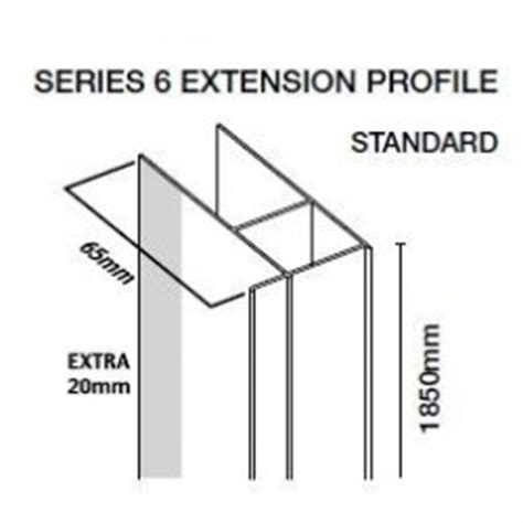 Shower Door Extension Profile by Extension Profile Series 6