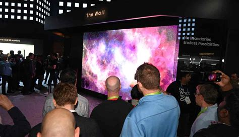 samsung unveils  massive   tv called  wall