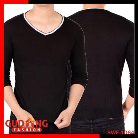 Baju Rajut Keren baju sweater keren pria rajut hitam swe 1064 gudang