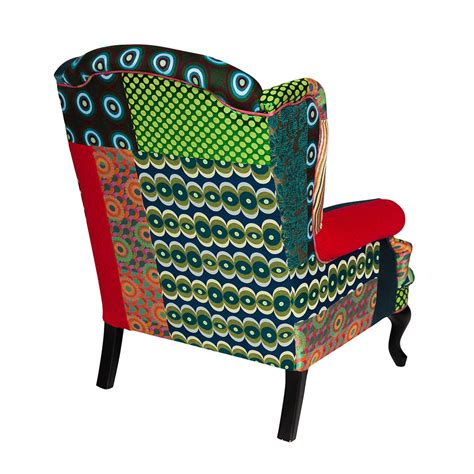 patchwork armchairs buy desigual patchwork armchair green amara