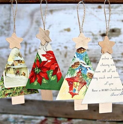 pinterest how to make a tree ornament from a tea cup saicer how to make vintage card ornaments for the tree