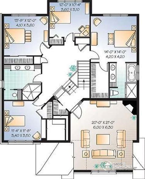 Jim Walters Floor Plans by D 233 Tail Du Plan De Maison Unifamiliale W3435