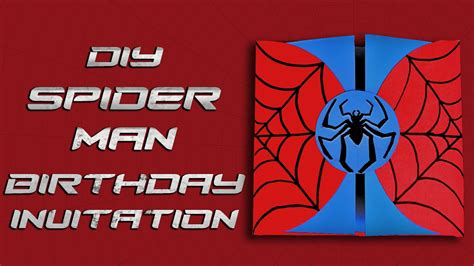 spider card template diy birthday invitation