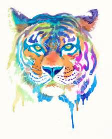 colorful tiger colorful tiger print gifts rainbow animals