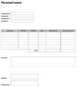 Leave Form Template by Pdf Templates Construction Templates