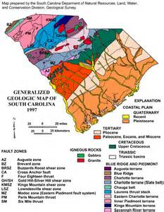 carolina resources map overview of sc geology