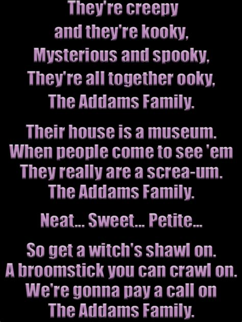 theme song quotes addams theme song lyrics addams pinterest family