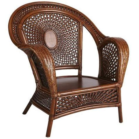 azteca rattan armchair pecan brown home decor