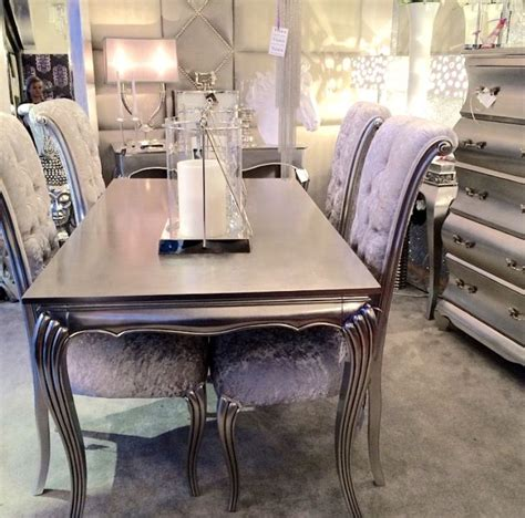 Black And Silver Dining Room Set by Silver Dining Room Sets With Nifty Black And Silver Dining