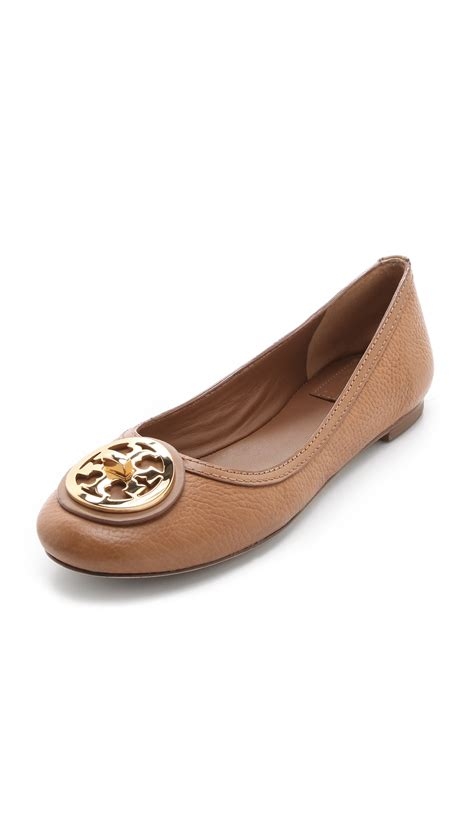 burch sale shoes flats burch selma ballet flats in brown lyst