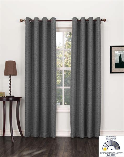 Com Sun Zero Burton Textured Blackout Curtain