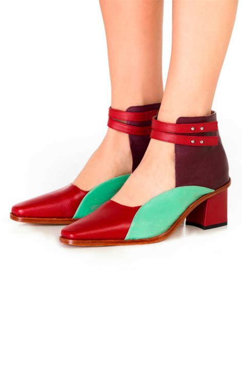 color block heels kessel ankle colorblock heel from buenos