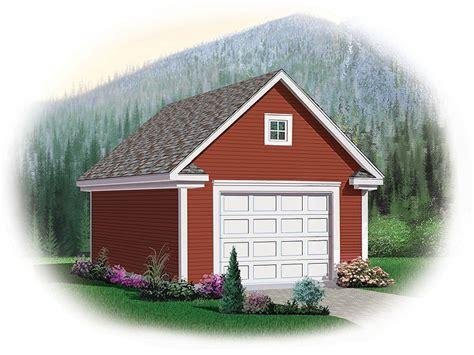 Single Car Garage Plans With Loft by Garage Loft Plans Detached One Car Garage Loft Plan