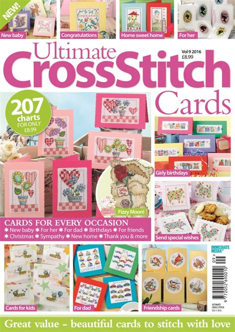 new homes ideas 2016 full year issues collection ultimate cross stitch cards 2016
