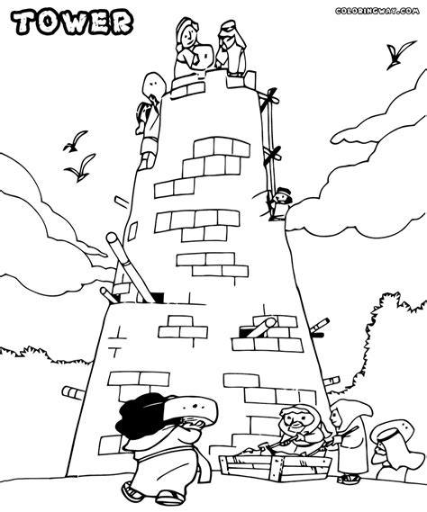 coloring page for tower of babel tower of babel coloring page jacb me