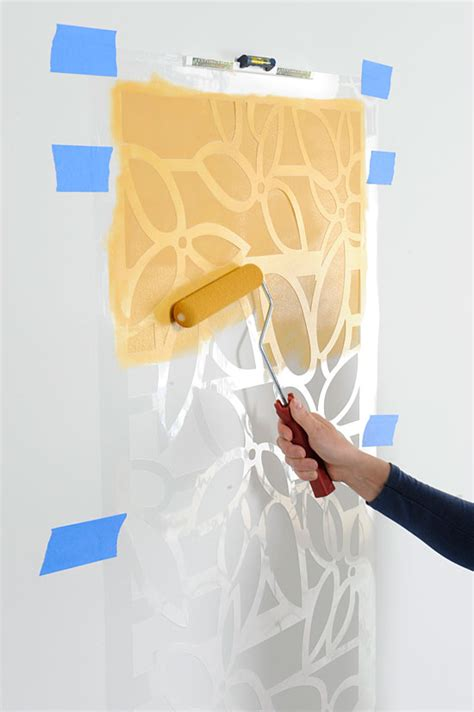 pattern wall painting techniques roller stenciling tips how to stencil with a roller