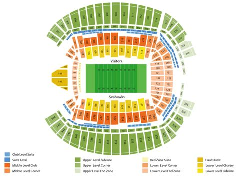 seahawks seating chart with rows houston texans at seattle seahawks live at centurylink field