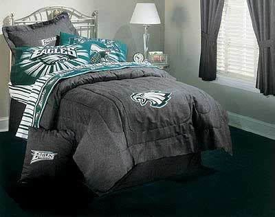 Nfl Philadelphia Eagles Denim Football Bedding Comforter Eagles Bed Set