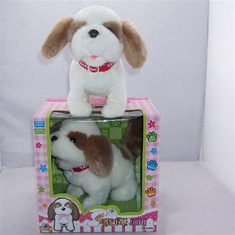 puppy toys for toddlers electronics barking stuffed walking puppy evtoys