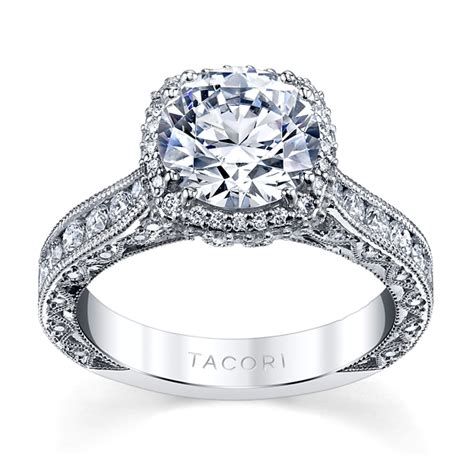 tacori platinum engagement ring setting 1 1 4 cttw