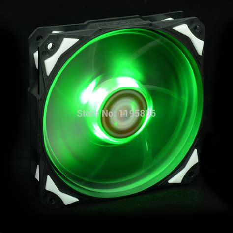 green led computer fan green led 120mm 12v dc fan with de vibration rubber