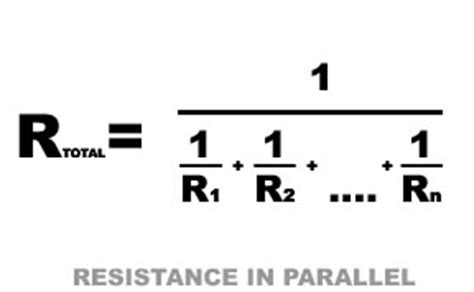 parallel resistor equation electrical basics